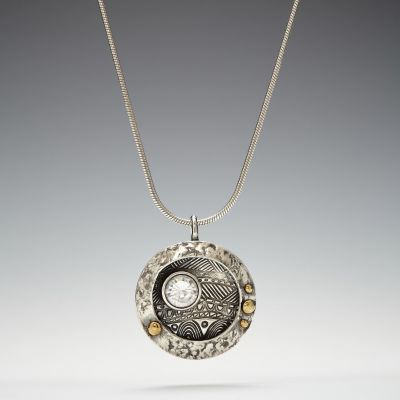 Silver and Gold Shadow Box Pendant