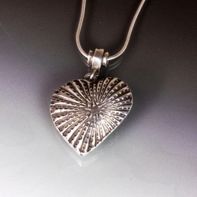 Silver Heart two sided Pendant