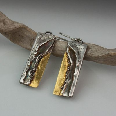 Gold and Silver Waterfall Earrings