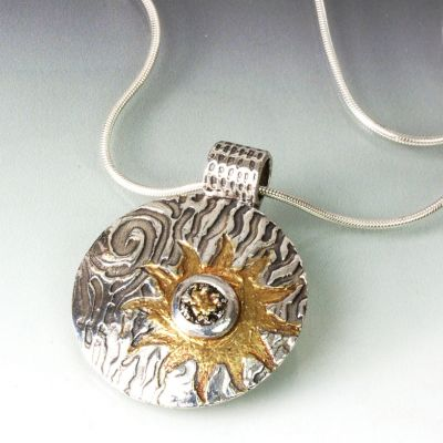 Silver and Gold Sun Pendant