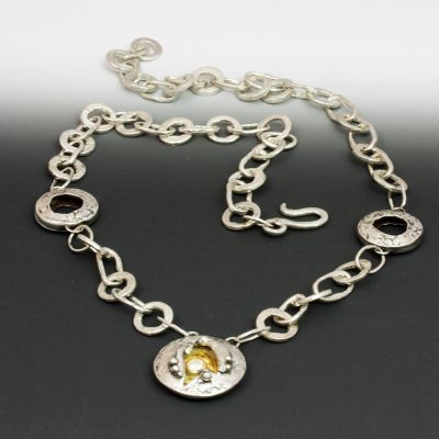 Hand Made Sterling Chain with Beads